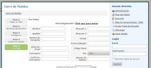registro de cliente